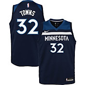 Nike Youth Minnesota Timberwolves Karl-Anthony Towns #32 Navy Dri-FIT Swingman Jersey