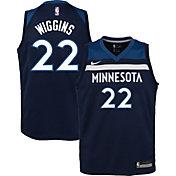 Nike Youth Minnesota Timberwolves Andrew Wiggins #22 Navy Dri-FIT Swingman Jersey