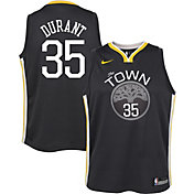 Nike Youth Golden State Warriors Kevin Durant #35 Grey Statement Dri-FIT Swingman Jersey