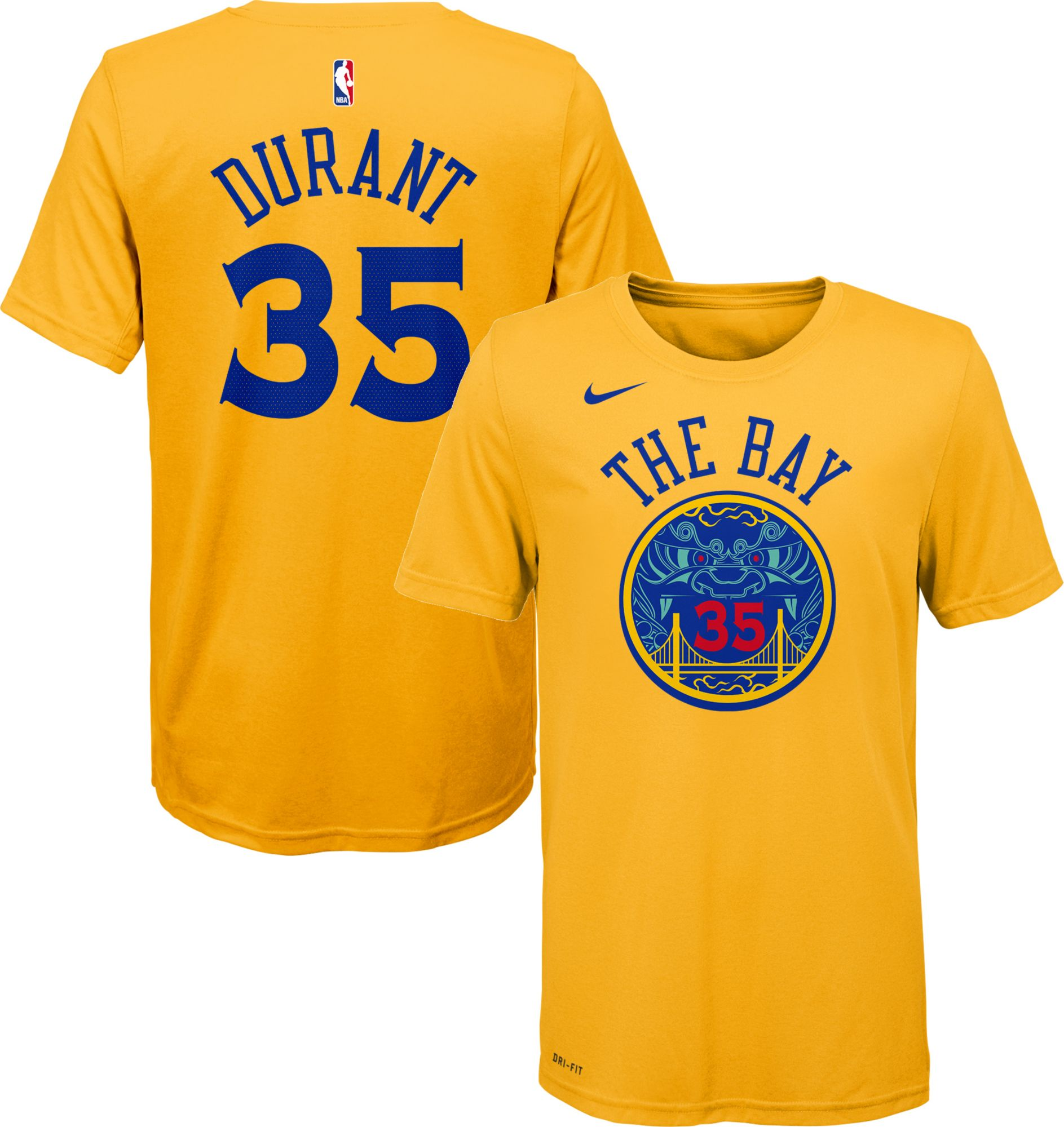 Nike Youth Golden State Warriors Kevin Durant Dri-FIT City Edition T-Shirt  | DICK'S Sporting Goods