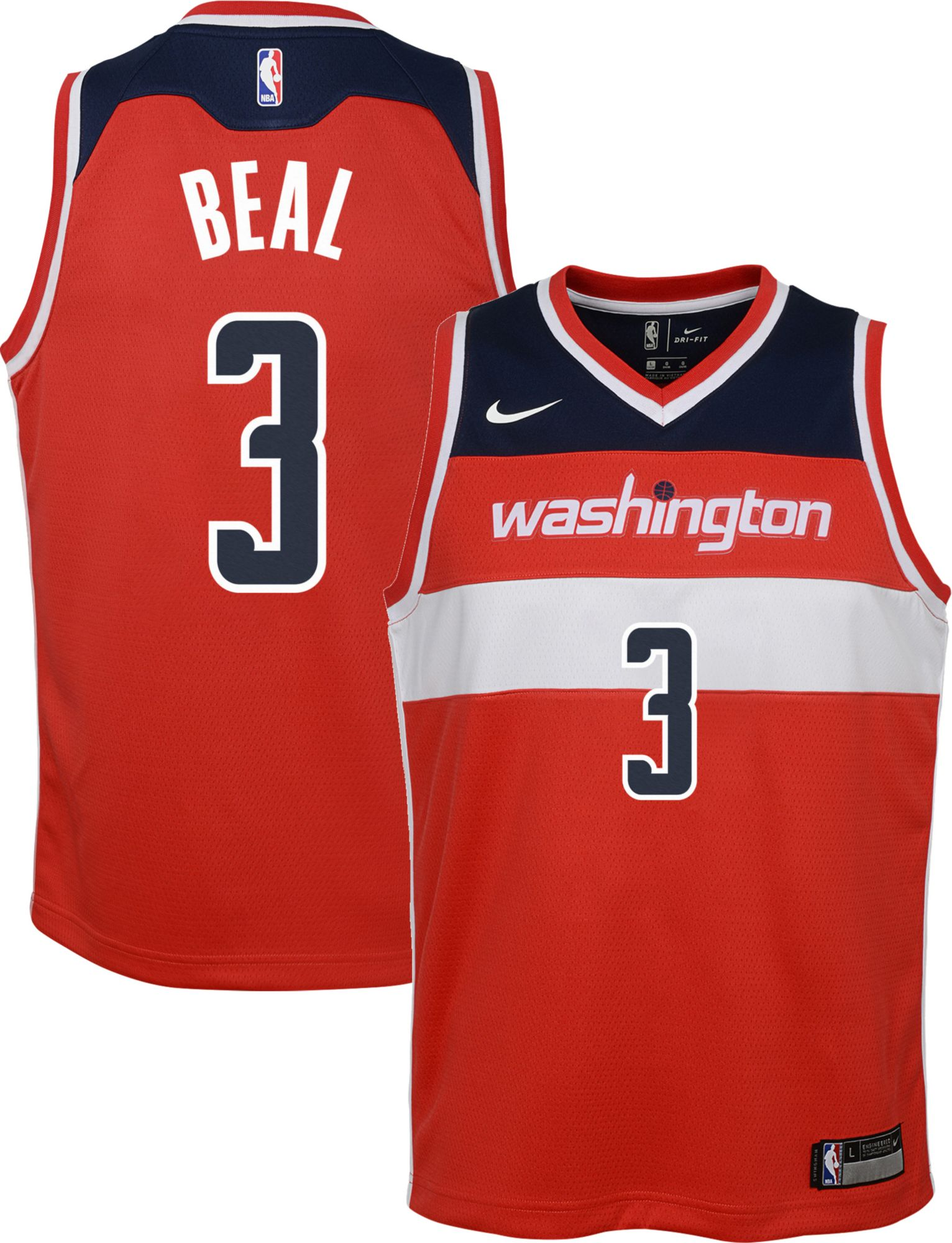 Product Image � Nike Youth Washington Wizards Bradley Beal #3 Red Dri-FIT  Swingman Jersey