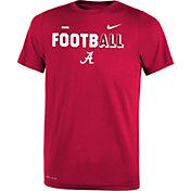 Nike Youth Alabama Crimson Tide Crimson FootbALL Sideline Legend T-Shirt