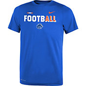 Nike Youth Boise State Broncos Blue FootbALL Sideline Legend T-Shirt