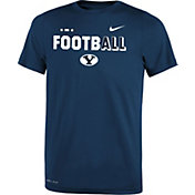 Nike Youth BYU Cougars Blue FootbALL Sideline Legend T-Shirt