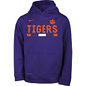 Nike Youth Clemson Tigers Regalia Football Sideline Pullover Therma-FIT Hoodie