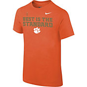 Nike Youth Clemson Tigers Orange 'Best is the Standard' Football Mantra T-Shirt