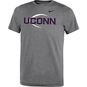Nike Youth UConn Huskies Grey Football Icon Legend T-Shirt