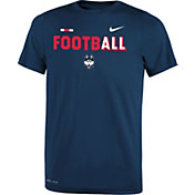 Nike Youth UConn Huskies Blue FootbALL Sideline Legend T-Shirt
