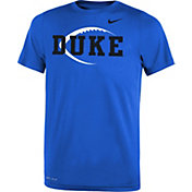 Nike Youth Duke Blue Devils Duke Blue Football Icon Legend T-Shirt