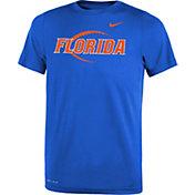 Nike Youth Florida Gators Blue Football Icon Legend T-Shirt