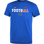 Nike Youth Florida Gators Blue FootbALL Sideline Legend T-Shirt