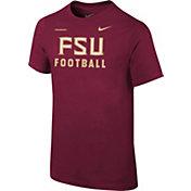 Nike Youth Florida State Seminoles Garnet Football Sideline Facility T-Shirt