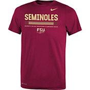 Nike Youth Florida State Seminoles Garnet Football Staff Legend T-Shirt