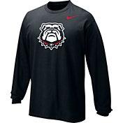 Nike Youth Georgia Bulldogs Logo Long Sleeve Black T-Shirt