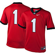 Nike Youth Georgia Bulldogs #1 Red Game Football Jersey