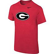 Nike Youth Georgia Bulldogs Red Logo T-Shirt