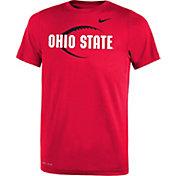 Nike Youth Ohio State Buckeyes Scarlet Football Icon Legend T-Shirt