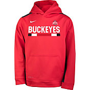 Nike Youth Ohio State Buckeyes Scarlet Football Sideline Pullover Therma-FIT Hoodie