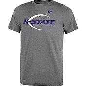 Nike Youth Kansas State Wildcats Grey Football Icon Legend T-Shirt