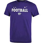 Nike Youth Kansas State Wildcats Purple FootbALL Sideline Legend T-Shirt