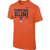 Nike Youth Illinois Fighting Illini Orange Local Verbiage T-Shirt