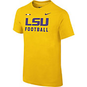 Nike Youth LSU Tigers Gold Football Sideline Facility T-Shirt