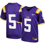 Nike Youth LSU Tigers #5 Purple Game Football Jersey