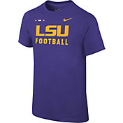 Nike Youth LSU Tigers Purple Football Sideline Facility T-Shirt