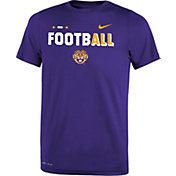 Nike Youth LSU Tigers Purple FootbALL Sideline Legend T-Shirt