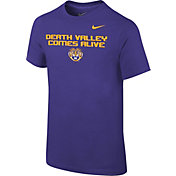 Nike Youth LSU Tigers Purple 'Death Valley Comes Alive' Football Mantra T-Shirt