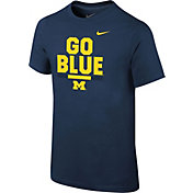 Nike Youth Michigan Wolverines Blue Local Verbiage T-Shirt
