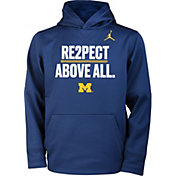 Jordan Youth Michigan Wolverines Navy 'Re2spect Above All' Hoodie