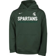 Nike Youth Michigan State Spartans Green Football Sideline Pullover Therma-FIT Hoodie