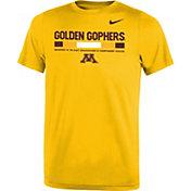 Nike Youth Minnesota Golden Gophers Gold Football Staff Legend T-Shirt