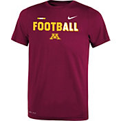 Nike Youth Minnesota Golden Gophers Maroon FootbALL Sideline Legend T-Shirt