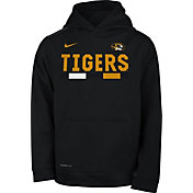 Nike Youth Missouri Tigers Football Sideline Pullover Black Therma-FIT Hoodie