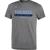 Jordan Youth North Carolina Tar Heels Grey ELITE Basketball Legend T-Shirt