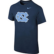 Nike Youth North Carolina Tar Heels Navy Logo T-Shirt