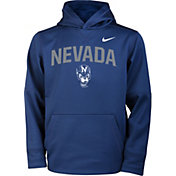 Nike Youth Nevada Wolf Pack Pullover Therma-FIT Hoodie