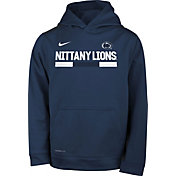 Nike Youth Penn State Nittany Lions Blue Football Sideline Pullover Therma-FIT Hoodie