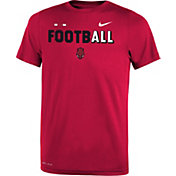 Nike Youth Arkansas Razorbacks Cardinal FootbALL Sideline Legend T-Shirt
