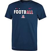 Nike Youth Arizona Wildcats Navy FootbALL Sideline Legend T-Shirt