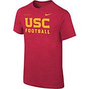 Nike Youth USC Trojans Cardinal Football Sideline Facility T-Shirt