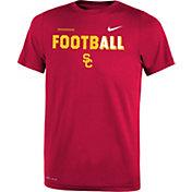 Nike Youth USC Trojans Cardinal FootbALL Sideline Legend T-Shirt
