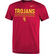Nike Youth USC Trojans Cardinal Football Staff Legend T-Shirt