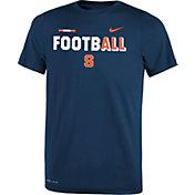 Nike Youth Syracuse Orange Blue FootbALL Sideline Legend T-Shirt