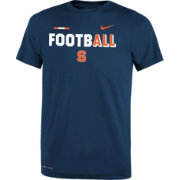 Nike Youth Syracuse Orange Blue FootbALL Sideline Legend T-Shirt