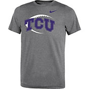 Nike Youth TCU Horned Frogs Grey Football Icon Legend T-Shirt