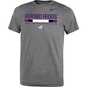 Nike Youth TCU Horned Frogs Grey Football Staff Legend T-Shirt