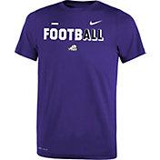 Nike Youth TCU Horned Frogs Purple FootbALL Sideline Legend T-Shirt